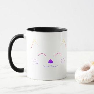 Cute Cat Face - multicolor Mug