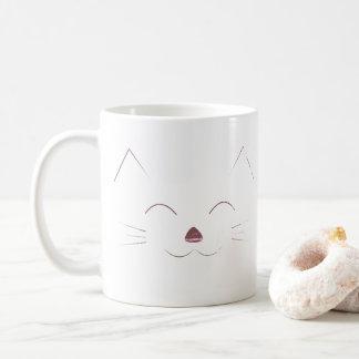 Cute Cat Face - pink Coffee Mug