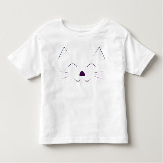 Cute Cat Face - purple Toddler T-Shirt
