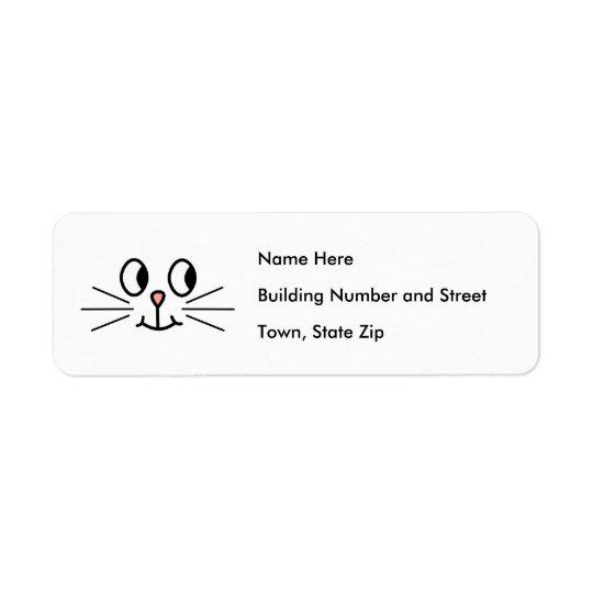 Cute Cat Face. Return Address Label