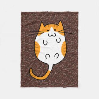 Cute Cat Fleece Blanket