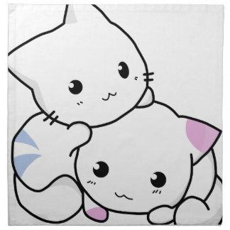 Cute cat friends cloth napkin