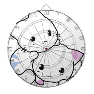 Cute cat friends dartboard with darts