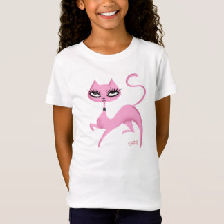 Cute Cat Girls's Tee by Fluff