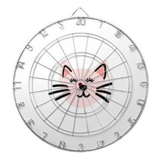 Cute cat illustration dartboard