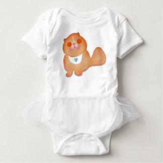 Cute cat illustration gift by Gemma Orte Designs Baby Bodysuit