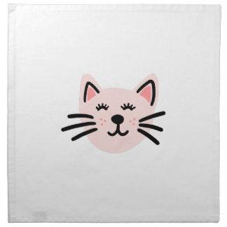 Cute cat illustration napkin