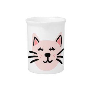 Cute cat illustration pitcher