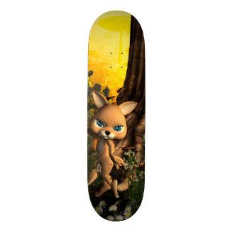 Cute cat in a fairy tale forest skate board decks