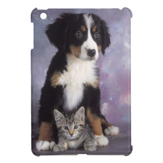 Cute cat in dog in love iPad mini case