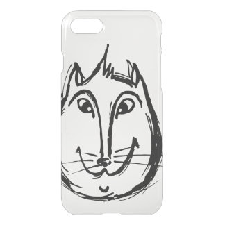 Cute cat iPhone 7 case black
