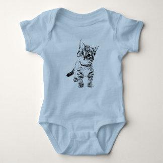 Cute cat kitten baby bodysuit