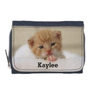 Cute Cat Kitten Personalized Girls Wallet