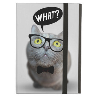Cute Cat kitten with glasses what quote funny Case For iPad Air