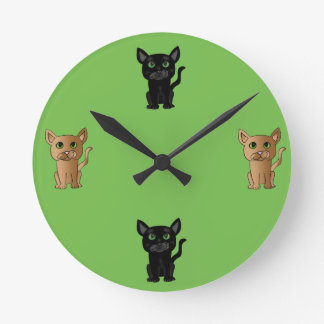 Cute Cat Lover Clock
