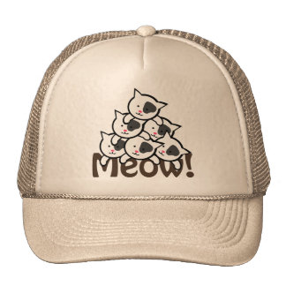 Cute Cat(Meow)Black Cap