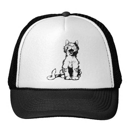 Cute Cat Meowing Mesh Hats