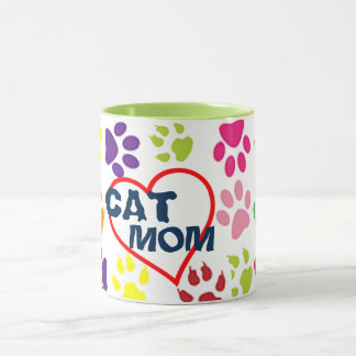 cute cat mom proud mommy pet lover mug design