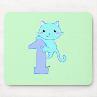Cute cat number 1 mouse pad