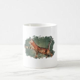 cute cat painted mug design