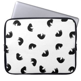 CUTE Cat Pattern Black and White Laptop Sleeve