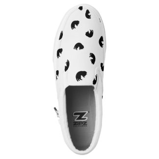 CUTE Cat Pattern Black and White Slip-On Shoes