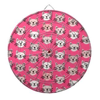 Cute cat pattern in pink dartboard