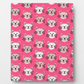 Cute cat pattern in pink plaque