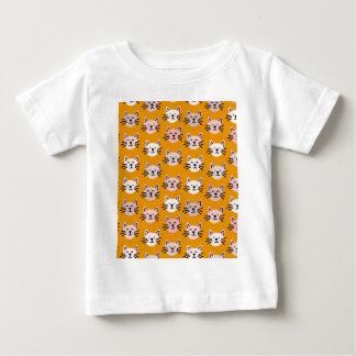 Cute cat pattern in yellow mustard baby T-Shirt