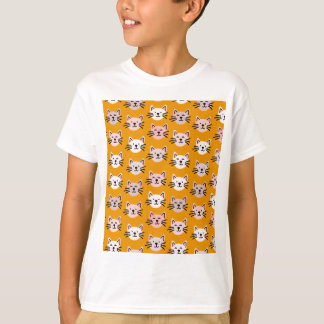 Cute cat pattern in yellow mustard T-Shirt