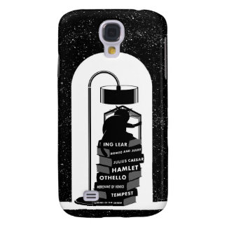 Cute Cat Reading Shakespeare Plays Galaxy S4 Cases