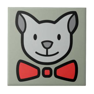 Cute Cat Small Square Tile