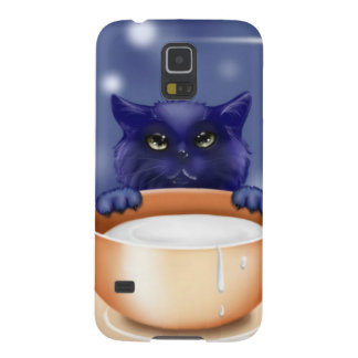 Cute Cat With Milk Case For Galaxy S5