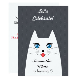Cute cat with tongue sticking out card