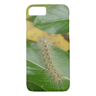 Cute Caterpillar on Green Leaf iPhone 8/7 Case