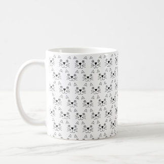 Cute Cats All Over Pattern Mug