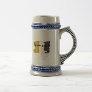 Cute cats beer stein