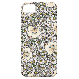 Cute Cats & Daisy Flower iPhone 5 5S iPhone 5 Covers