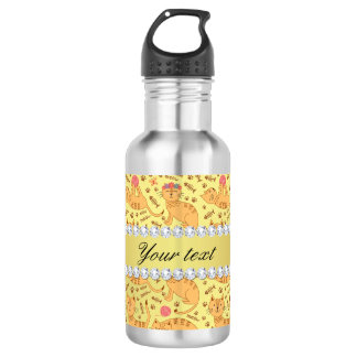 Cute Cats Faux Gold Foil Bling Diamonds 532 Ml Water Bottle