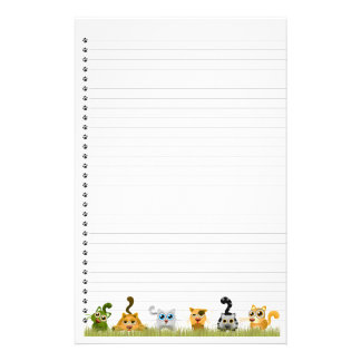 Cute Cats Lined Stationery