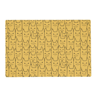 Cute cats pattern laminated place mat