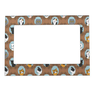 Cute Cats Pattern Magnetic Frame