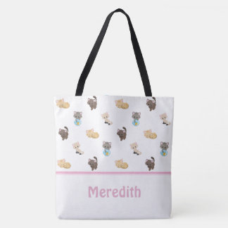 Cute Cats Pattern | Personalised Tote Bag