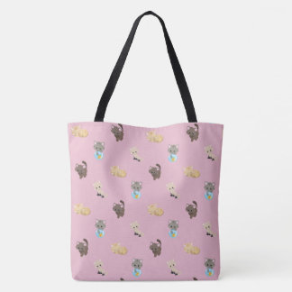 Cute Cats Pattern | Pink | Tote Bag