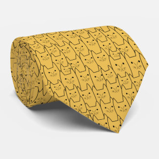 Cute cats pattern tie
