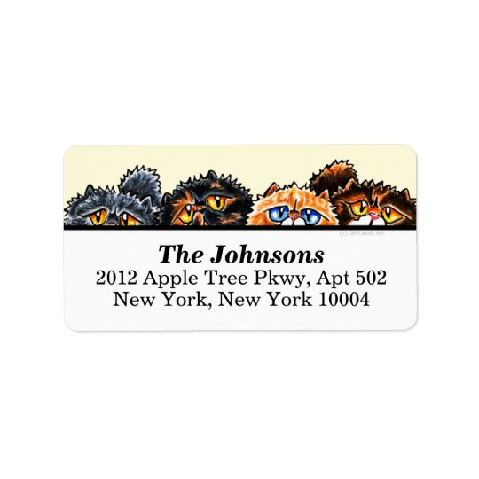 Cute Cats Persians and Cream Address Label