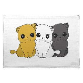 Cute cats placemat