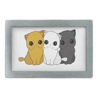 Cute cats rectangular belt buckles