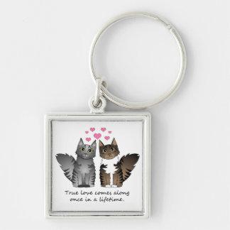 Cute Cats - True Love Key Ring