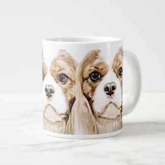 Cute Cavalier King Charles Spaniel Large Coffee Mug